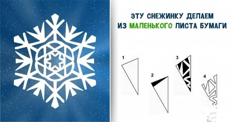 Как сделать из бумаги обычные снежинки из бумаги