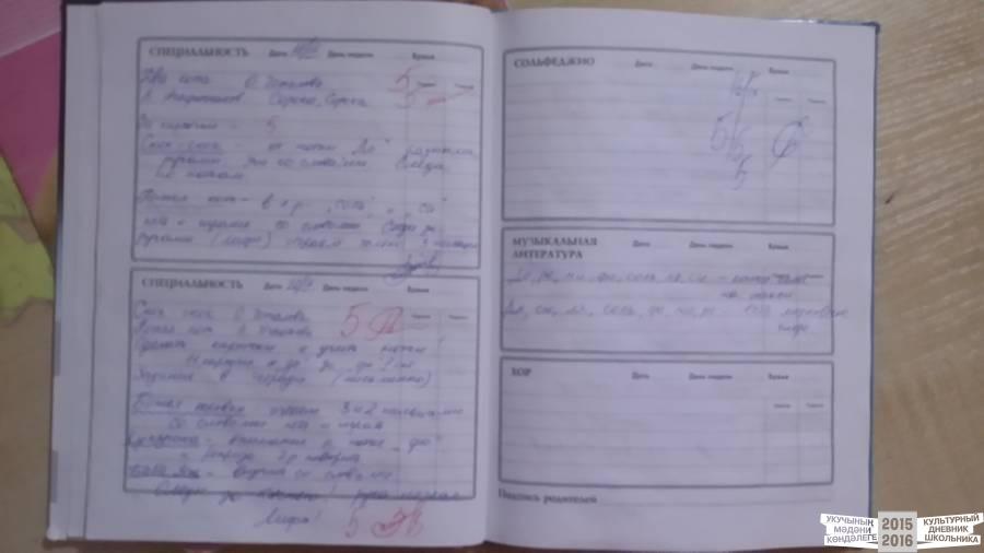 Дневник для музыкальной школы фото.