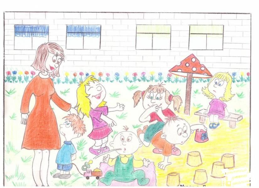 Наш любимый детский сад рисунки поделки 95